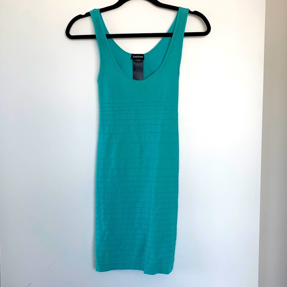 Bebe Blue Turquoise BodyCon Dress